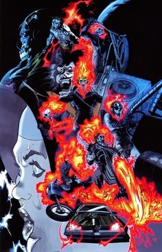 Ungoliantschilde — a Ghost Rider Omnibus cover, by Tan Eng Huat.