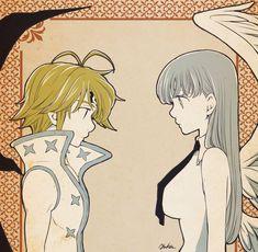 Meliodas e Elizabeth Meliodas And Elizabeth, Elizabeth Liones, Seven Deadly Sins Anime, 7 Deadly Sins, Anime Nerd, Manga Anime, Chica Gato Neko Anime, Otaku, 7 Sins