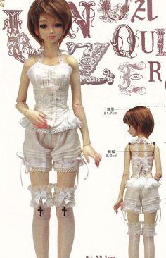 1/3 SD Unoa Quluts Zero BJD Doll Romantic Lolita by DollyAndPaws, $4.00