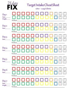 21 day fix clean eating reference guide cheat sheet calorie