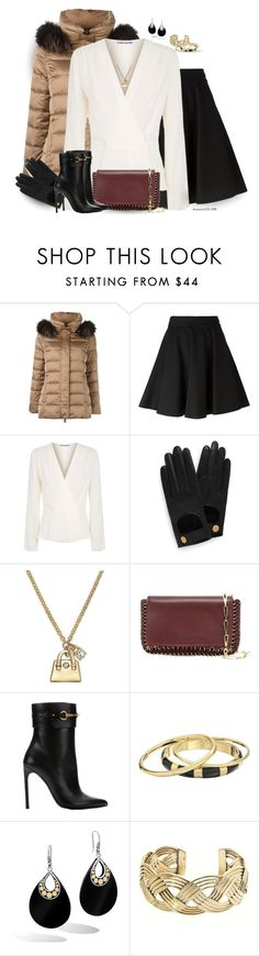 """""""Puffer Jacket"""" by houston555-396 ❤ liked on Polyvore featuring Hetregó, Giamba, Elizabeth and James, Mulberry, Kate Spade, Paco Rabanne, Gucci, Karen Kane, John Hardy and Charles Albert"""