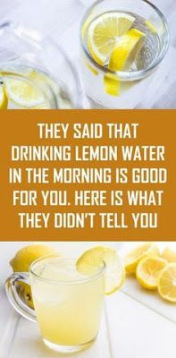 They said that drinking lemon water in the morning is good for you. Here is what they didn't tell you Lemon juice contains a lot of nutrients that help us to have good health. Ginger Ale, Water Recipes, Detox Recipes, Juice Recipes, Smoothie Recipes, Rehydration Drink, Lemon Water In The Morning, Morning Water, Lemon Juice In Water
