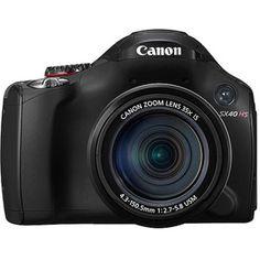 "Canon PowerShot SX40 HS Black 12.1MP Digital Camera w/ 35X Optical Zoom,2.7"" LCD Display, HD Video"