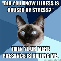 Dear Neuro, I'm stressed from pooping, not pooping from stress... It unnerved me that it was even suggested....