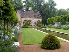 Another garden in the Cotswolds by Jinny Blom. Great mix of formal lines and casual planting. Landscape Architecture, Landscape Design, Garden Design, Formal Gardens, Outdoor Gardens, English Country Gardens, Garden Cottage, Garden Park, Garden Spaces