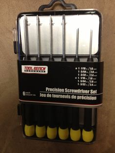 6 PACK PRECISION SCREWDRIVER SET  NEW IN PACK