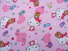 C717 - 1 meter Cotton Twill Fabric - hello kitty by jingfabric on Etsy https://www.etsy.com/listing/202422922/c717-1-meter-cotton-twill-fabric-hello