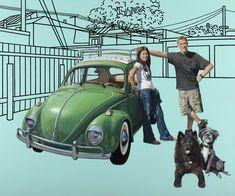 """Ben Hughes """"California Dreaming"""" oil on canvas Perspective Art, A Level Art, High School Art, Country Artists, Gcse Art, Art Logo, Dog Art, Line Drawing, Mixed Media Art"""