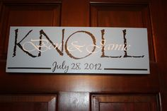 Personalized Name Sign.