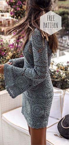 Crochet Top Free Pattern Free Crochet Pattern…Everybody Scarf!Messy Bun Hat Crochet Pattern: free crochet pattern…Free Pattern Friday: Crochet Scarf Pattern from… Crochet Summer Dresses, Summer Dress Patterns, Crochet Lace Dress, Crochet Wedding Dress Pattern, Crochet Summer Tops, Crochet Bikini, Mode Crochet, Diy Crochet, Crochet Tops
