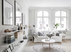 A lovely monochrome and light wood Swedish home