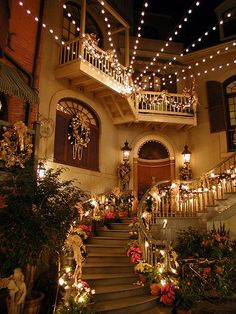 New Orleans Square courtyard at Disneyland, I got a picture with my hunny here right on those steps