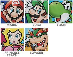 Super Mario Canvas Art