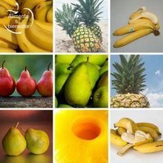 Frutas depurativas: pera, piña y plátano