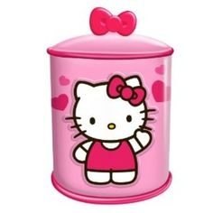 Hello Kitty Cupcake Ceramic Cylinder Cookie Jar, Multicolored