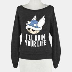 Blue Shell Will Ruin Your Life | T-Shirts, Tank Tops, Sweatshirts and Hoodies | HUMAN