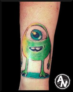 awesome color in this monsters inc tattoo artist @ audie tattoos ...