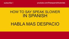 how to say i speak a little spanish in spanish