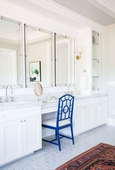 Master Bathroom Vanity with Venetian Mirrors || Studio McGee