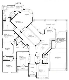 Kind of obsessed with this one story floor plan