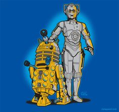 The only problem is that Cybermen and Daleks are definitely not friends. Certainly not to the point of near homo-erotic closeness.