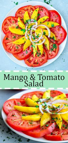 Its mango season here in South Florida! With almost a unlimited supply of mangos, being that my grandma has five trees in her backyard. This summer we will make sure to have plenty of recipes with mangos included. This salad is a healthy finger food for brunch or a nice appetizer before dinner. #salad #recipes #mango #caribbean #healthy #food