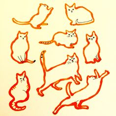 Cat Illustration by Marie Åhfeldt, Mås Illustra. www.masillustra.se #cat #pet #red #masillustra