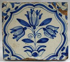 Dutch delft tile, circa 1700