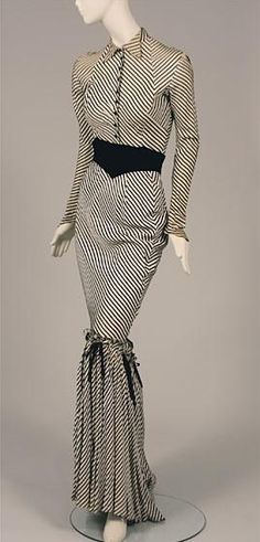 Synthetic crepe costume worn by Gypsy Rose Lee, c. 1940s.  Museum of the City of New York.