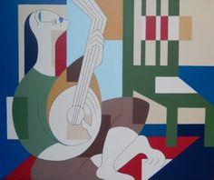 "Saatchi Art Artist Hildegarde Handsaeme; Painting, ""Banjo Party"" #art"