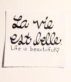 #handlettering #calligraphy #lavieestbelle