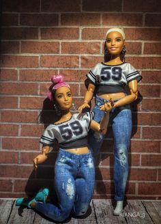 Beautiful Barbie Dolls, Pretty Dolls, Barbie Gorda, Barbies Pics, Black Baby Dolls, Diva Dolls, African American Dolls, Barbie Life, Barbie Fashionista