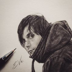Frank Iero, Emo Art, Music Pics, Music Mood, Band Memes, Emo Bands, My Chemical Romance, Our Lady, Traditional Art