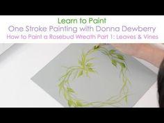 The secret of the OneStroke, How to paint Basic strokes, irishkalia - YouTube