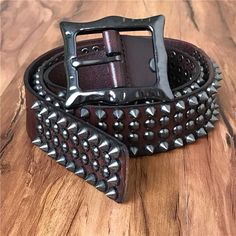 Brass Metal Rustic Heavy Weight Bullet Belt Alternative Punk Rock Emo Grunge