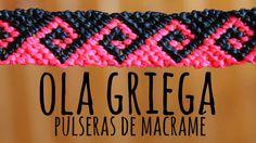 DIY Macrame bracelet in two colors, easy and fast Macrame Knots, Micro Macrame, Macrame Jewelry, Macrame Bracelets, Diy Jewlry, Chevron Friendship Bracelets, Thread Bracelets, Bracelet Tutorial, Bracelet Designs