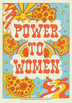 poster Power to women - Female Power by Marte Bedroom Wall Collage, Photo Wall Collage, Picture Wall, Collage Art, Wall Art, Psychedelic Art, Poster Wall, Poster Prints, Pop Art Posters