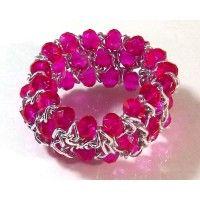 A beautiful purple multi-row stretch bracelet. Shop our pick: https://www.noblag.com/silver-tone-3-row-beaded-stretch-pink-stone-bracelet.html