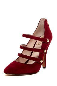 Jamily Pump on HauteLook red shoes, jamili pump, heel, red pump