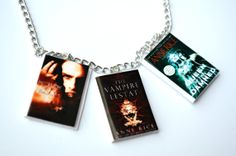 Anne Rice Vampire Chronicles Necklace  /   mini book by SpearCraft, $7.00