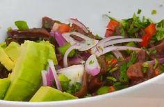 Receta de ceviche de cochayuyo Cabbage, Tacos, Food And Drink, Mexican, Vegetables, Ethnic Recipes, Ceviche Recipe, Appetizer Recipes, Meals