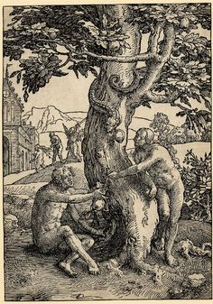 Lucas van der Leyden, The Small Power of Women Series, The Fall of Man, c.1517  Woodcut