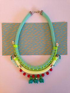 Nautical cord necklace By Carolina Bernardo.  Facebook.com/acarolinabernardo