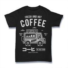 Fresh and Hot Coffee Van Unisex Adult T-shirt