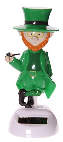 Lucky Larry Leprechaun Funny Dancing Novelty Solar Pal *** Details can be found at