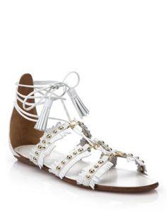 Aquazzura - Tulum Lace-Up Sandals