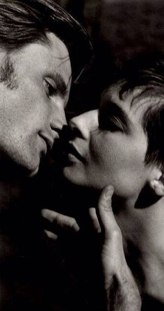 """""""A kiss is a secret told to the mouth instead of the ear."""" (Ingrid Bergman) Isabella Rossellini & Viggo Mortensen"""