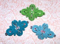 Quilling art Barrette Set of 3 Hair Jewelry by QuillingLife