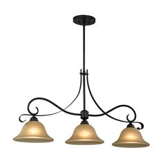 Be sure to impress with this 3 lights featuring a bronze finish for a sophisticated look. This traditional light fixture requires 100 watts and is constructed from metal and glass for long lasting durability.