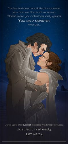 Reylo - Just let it in by LiberLibelula PRINTS AVAILABLE AT MY SOCIETY6!